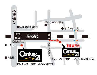 家市場 駒込店地図