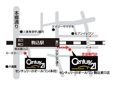 カリ住マ 駒込店地図