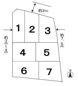 神谷 区画図