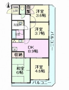 セザール川口朝日町 間取図