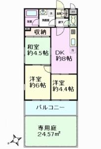 マック北戸田コート 間取図