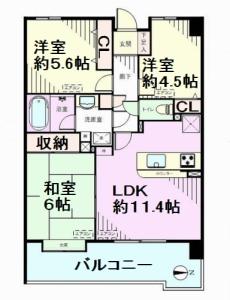 戸田公園第5ローヤルコーポ 間取図