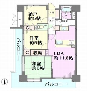 川口栄町ローヤルコーポ 間取図
