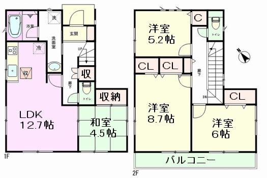 赤井 2号棟間取図
